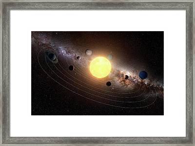 Solar System, Artwork Framed Print