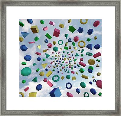 Solid Geometry Framed Print