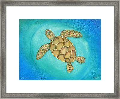 Solo Swimmer Framed Print