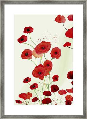 Sonata Of Poppies Framed Print