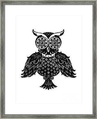 Sophisticated Owls 1 Of 4 Framed Print by Kyle Wood
