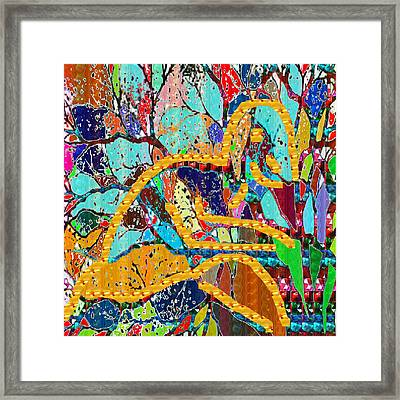 Soul Of A Tree Abstract  Navinjoshi  Rights Managed Images Graphic Design Is A Strategic Art Meaning Framed Print