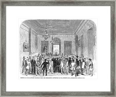 South Carolina Secession Framed Print