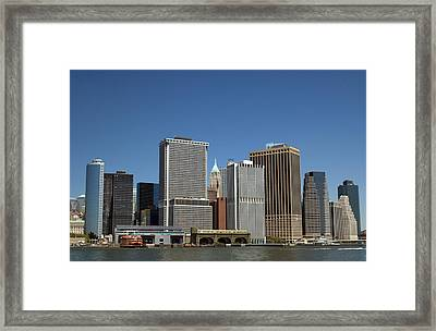 Framed Print featuring the photograph South Ferry by Jim Poulos