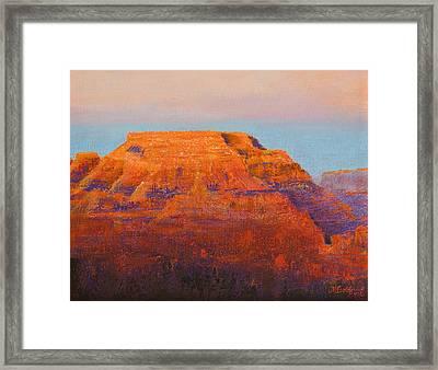 South Rim Sunset Framed Print