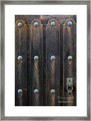 Southwestern Door Framed Print by Gina Savage