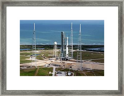 Space Launch System Launch Framed Print by Nasa