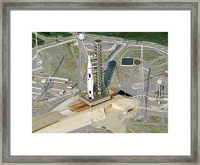 Space Launch System Framed Print by Nasa