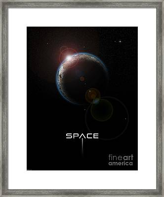 Space Framed Print by Phil Perkins