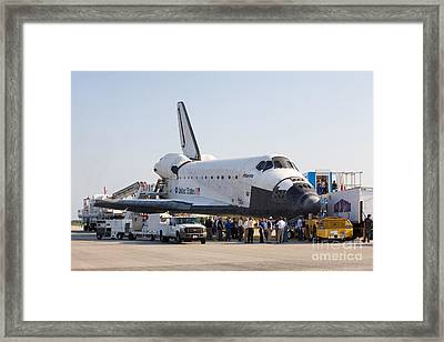 Space Shuttle Atlantis Final Mission Framed Print by Chris Cook