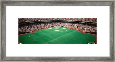 Spectator Watching A Baseball Match Framed Print by Panoramic Images