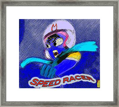 Speed Racer  Framed Print by Jazzboy