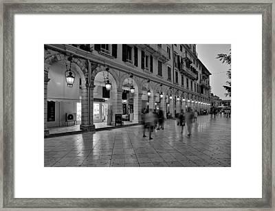 Spianada Square During Dusk Time Framed Print