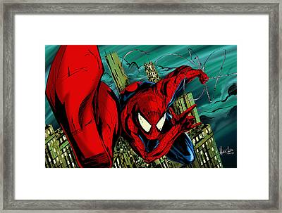 Spider Man Framed Print by Alexiss Jaimes