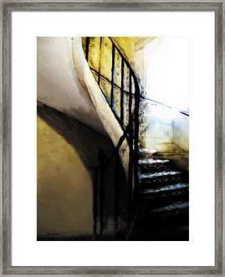 Spiral Staircase Of Villandry Framed Print
