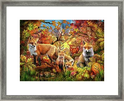 Framed Print featuring the drawing Spirit Of Autumn by Ciro Marchetti