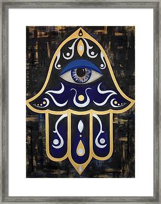 Spirit Of The Hamsa Framed Print by Allison Liffman