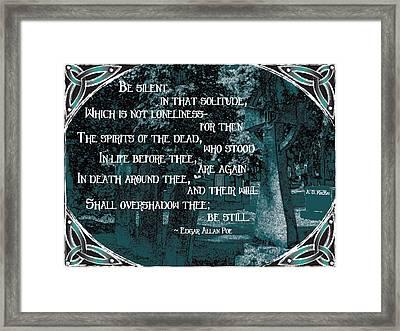 Spirits Of The Dead Framed Print