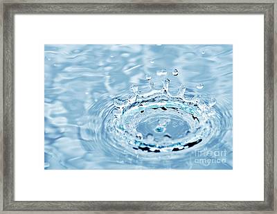 Splash Framed Print by HD Connelly