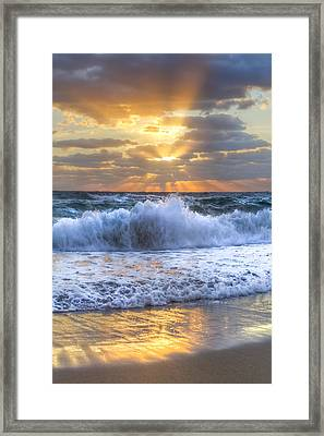 Splash Sunrise Framed Print