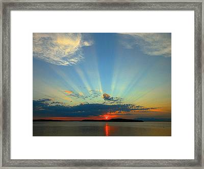 Splendor In The Sky Framed Print