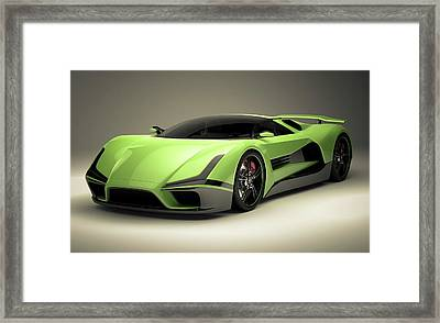 Sports Car Framed Print by Mevans