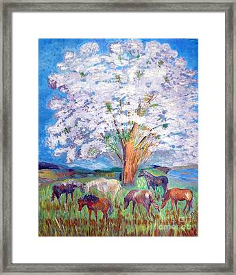 Spring And Horses 1 Framed Print