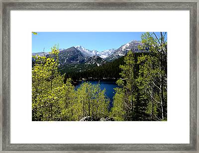 Spring At Bear Lake Framed Print by Tranquil Light  Photography