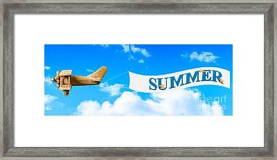 Summer Banner Framed Print