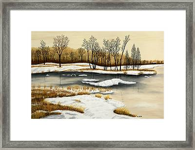 Spring Break Up II Framed Print