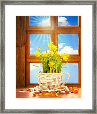 Spring Window Framed Print