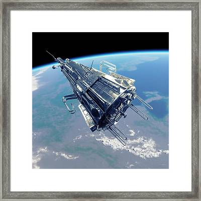 Sputnik 3 In Orbit Framed Print