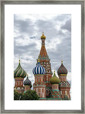 St Basils - Red Square - Moscow Russia Framed Print by Jon Berghoff