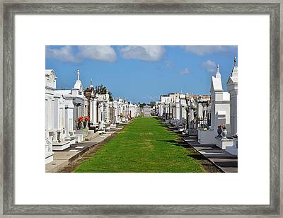 St Louis Cemetery No 3 New Orleans Framed Print by Christine Till