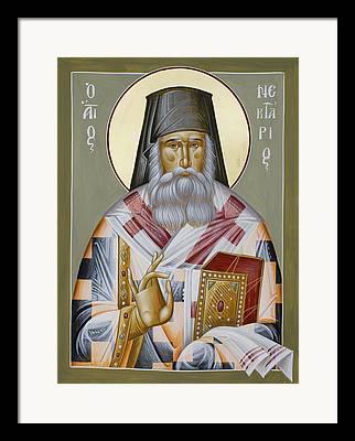 St Nektarios Of Aegina Framed Prints