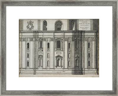 St. Peter's Basilica Framed Print by British Library