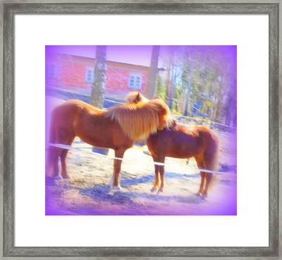 We Thought We Had Found Stable Love  Framed Print by Hilde Widerberg