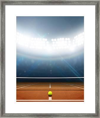Stadium And Tennis Court Framed Print