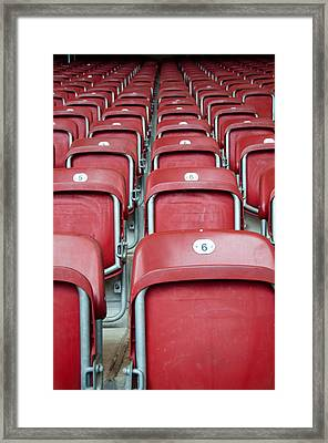 Stadium Seats Framed Print by Frank Gaertner