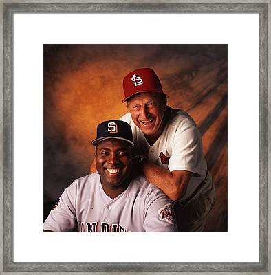 Stan Musial And Tony Gwynn Framed Print by Retro Images Archive