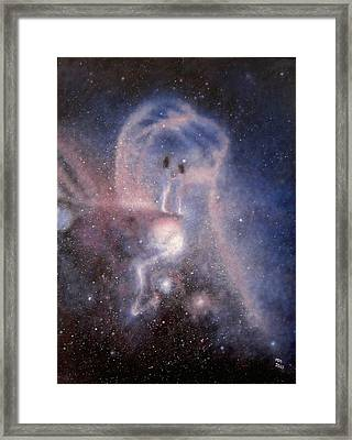 Star Couple Framed Print by Min Zou