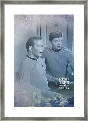 Star Trek Kirk And Mccoy Framed Print