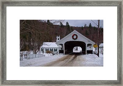 Stark Covered Bridge. Framed Print