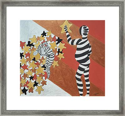 Framed Print featuring the painting Starred by Erika Chamberlin