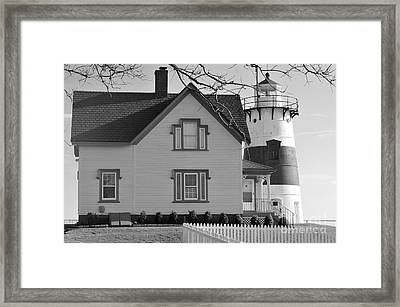 Startford Point Light 2 Framed Print by Catherine Reusch Daley