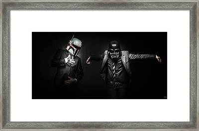 Starwars Suitup Framed Print