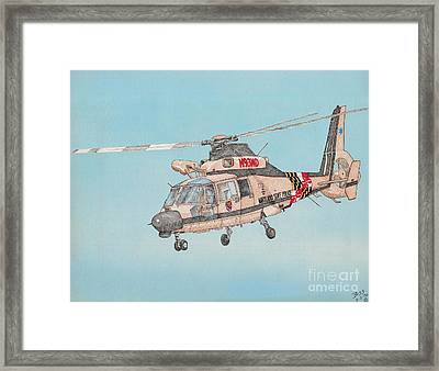 State Police Helicopter Framed Print by Calvert Koerber
