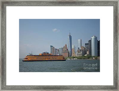 Staten Island Ferry Framed Print by Carol Ailles