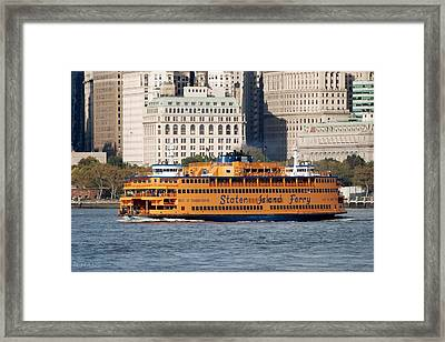 Staten Island Ferry Framed Print by Rob Hans