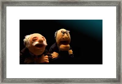 Statler And Waldorf 2 Framed Print by Marcello Cicchini